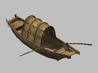 3D model journey west - boat