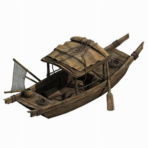 3D model small fishing boat 043