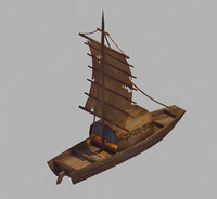 3D crescent - sailboat 03 model