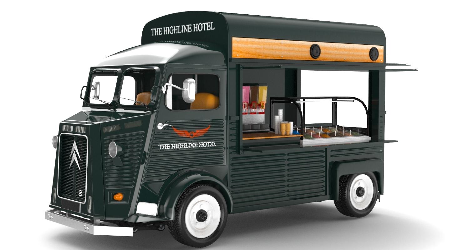 trucks modeled dog 3D model