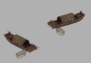 crescent bay - wooden boat model