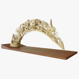 elephant tusk 3d max