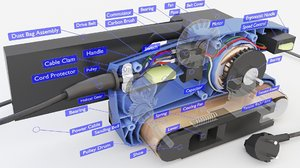 parts description 3D model