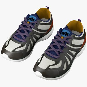 3d model running sneakers