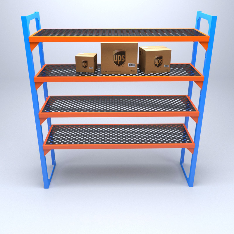 3D industrial rack