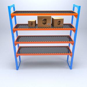 3D industrial rack