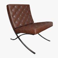 barcelona chair leather 3D