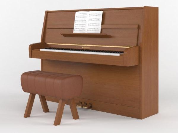 3D piano baldwin