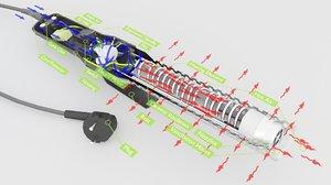 3D graphic parts model