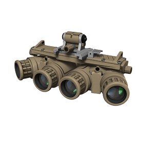 3D model night vision goggle anvis