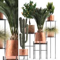 potted plants copper 3D model