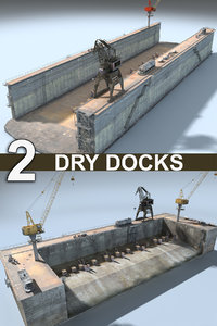 3D dry docks model