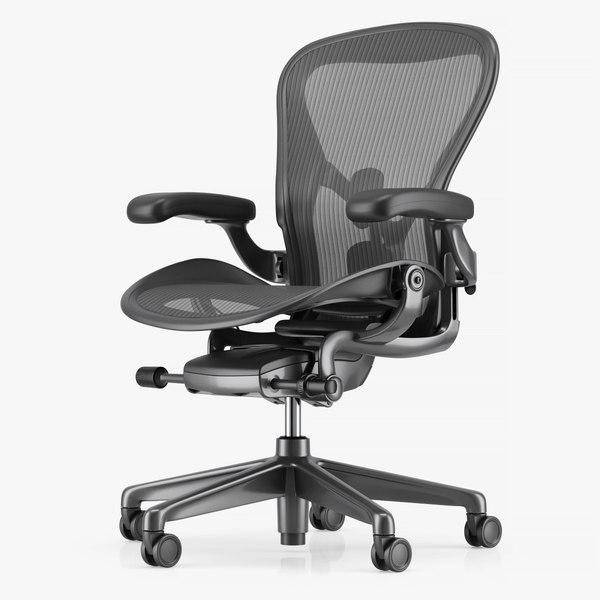 3D herman miller aeron office chair