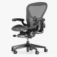 3D herman miller aeron office chair