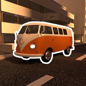 volkswagen transporter t1 van 3D model