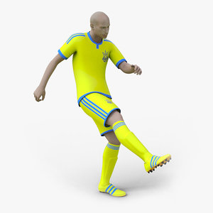 3D soccer player rigged