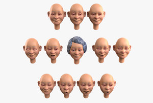 grandma emotion 3D