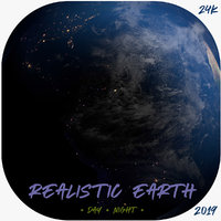 realistic earth planet 3D model