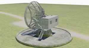 3D model wrzburg radar german army