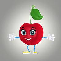 3d model of cool cartoon cherry