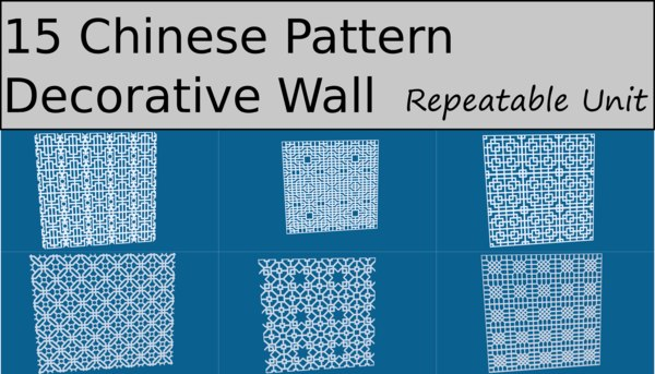 chinese pattern ornament 3D model