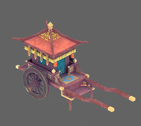 3D chinese ancient - red model