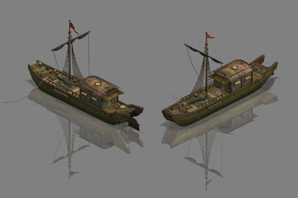canal - boat 3D model