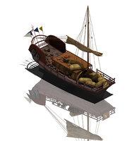 ancient china - merchant 3D model