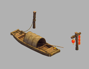 3D model ancient china - transportation
