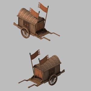 war - carriage 2701 3D model