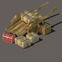 transportation - wooden carts model
