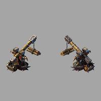 3D model steam harbour - crane