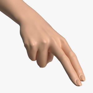 3D female arm pose f