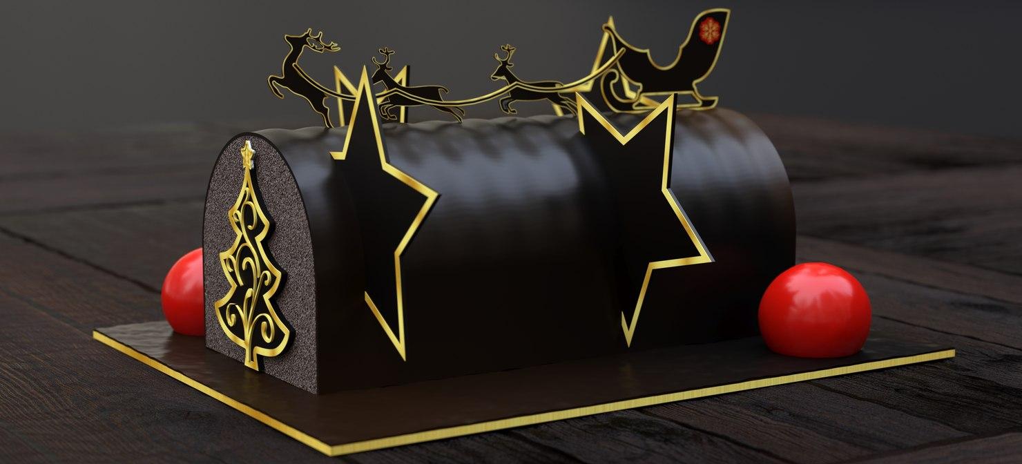 3D model starwood chocolate cake 2018
