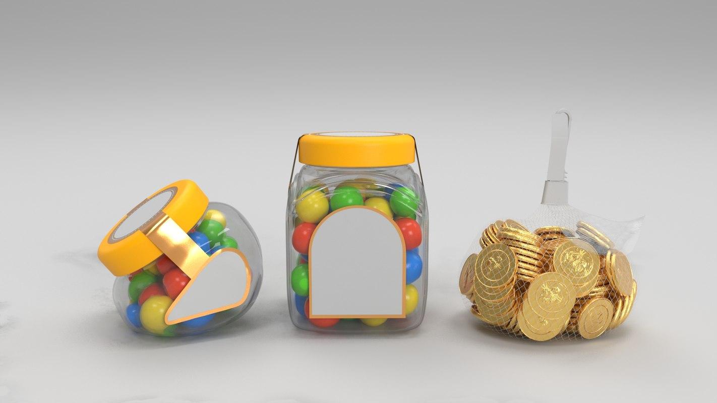 candy jar 3D model