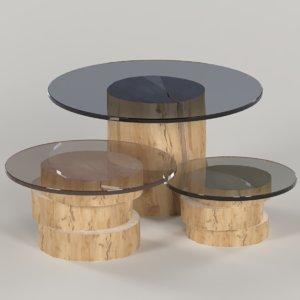 set tables slab stump 3D