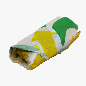 3D subway sub sandwich