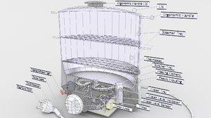 3D food steamer