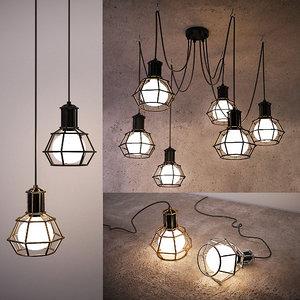ceiling lamps 28 light 3D model