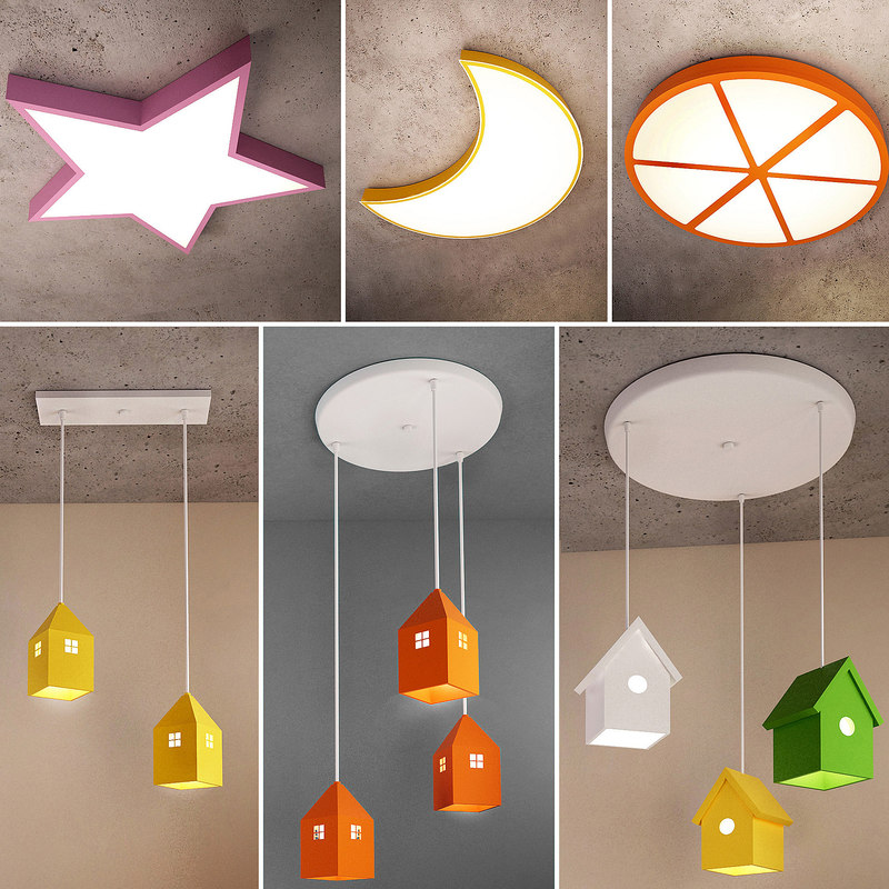 ceiling lamps 27 3D model
