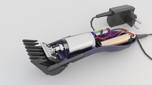 3D hair battery clippers