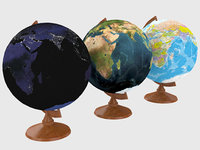 3D globe earth model