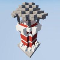 3D lighthouse minecraft model