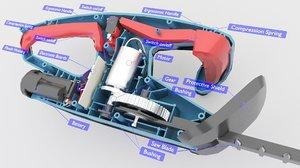 3D model parts description