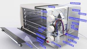 oven mini 3D model