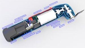 oscillating multitool battery 3D model