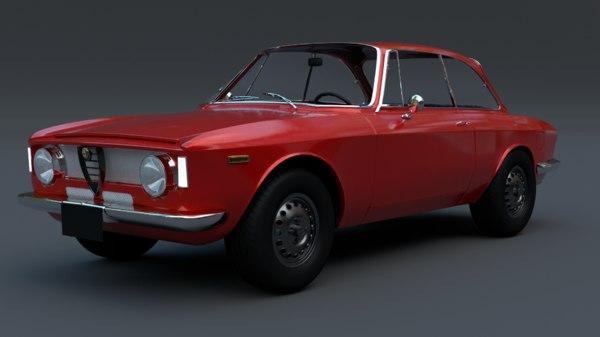 1965 alfa romeo gta 3D