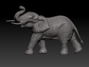 3D elephant animal model
