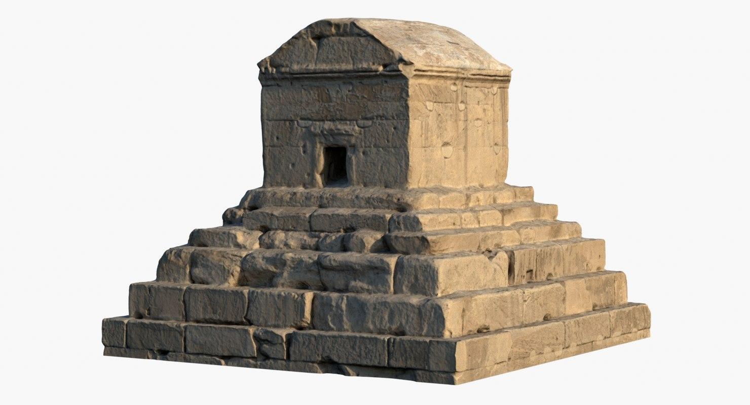 tomb cyrus great 3D