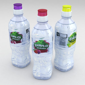 bottle water 3D model